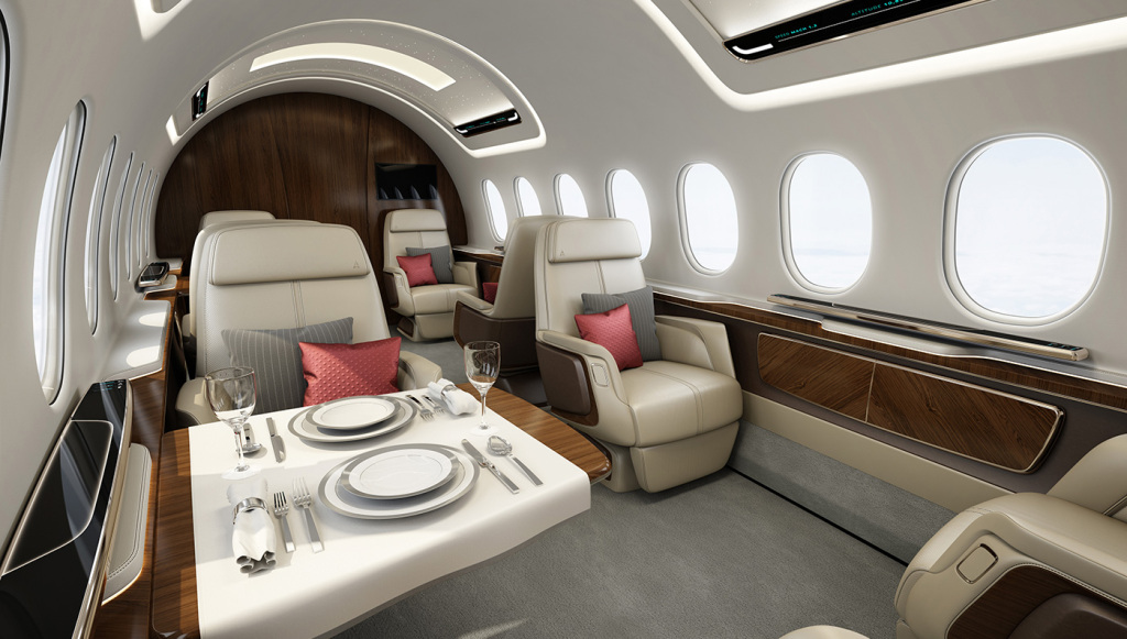 Aerion AS2 supersonic jet cabin design