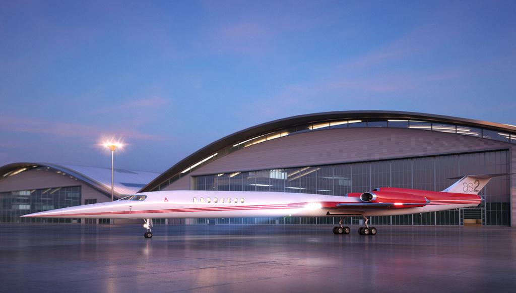 Aerion AS2 supersonic Jet unique design