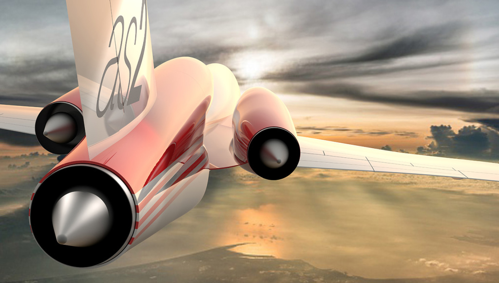 Aerion AS2 supersonic Jet engine