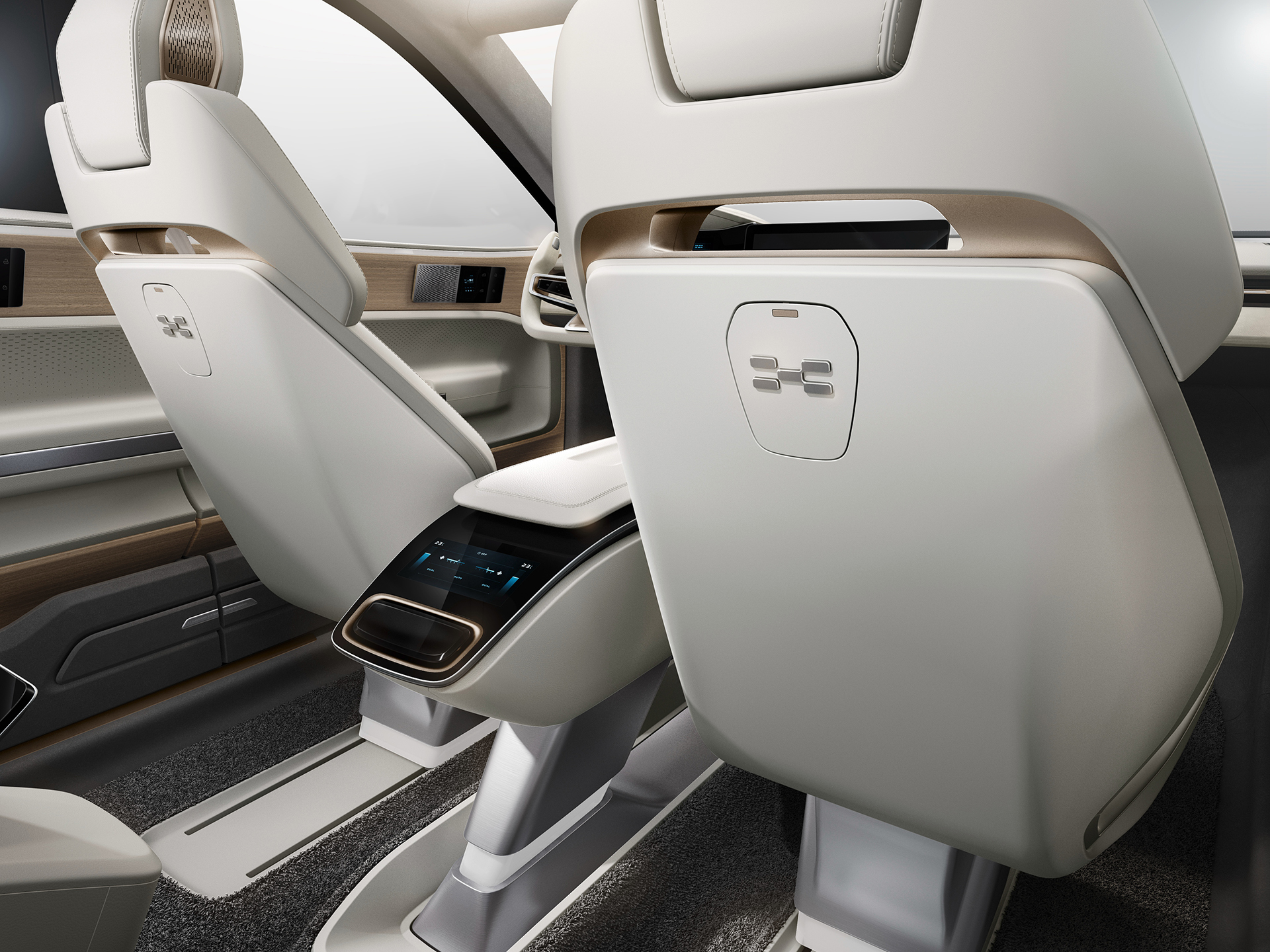 The luxury-looking seats of the Aiways U5