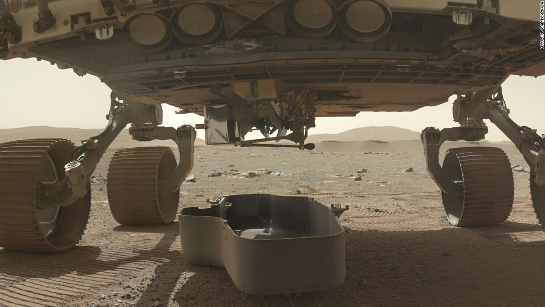 The belly of Perseverance rover