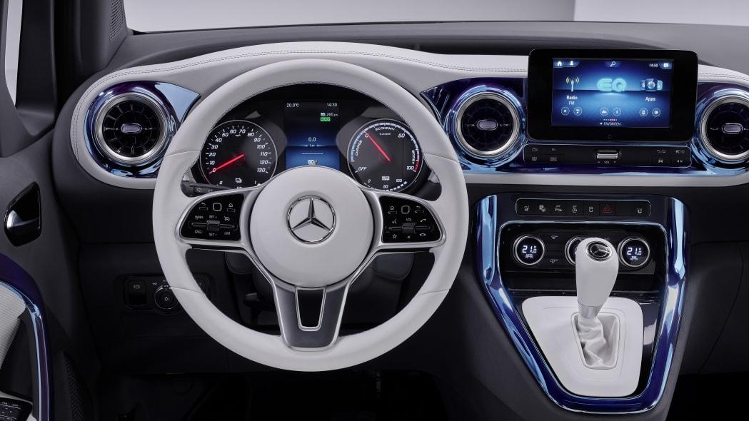 Mercedes Benz Concept EQT steering wheel