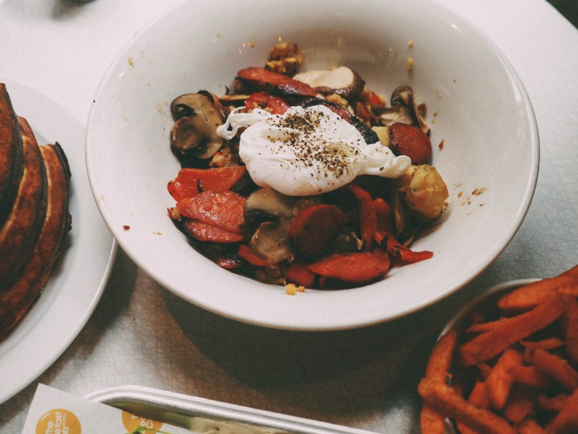 chorizo hash - the breakfast club | brunch at audrey's