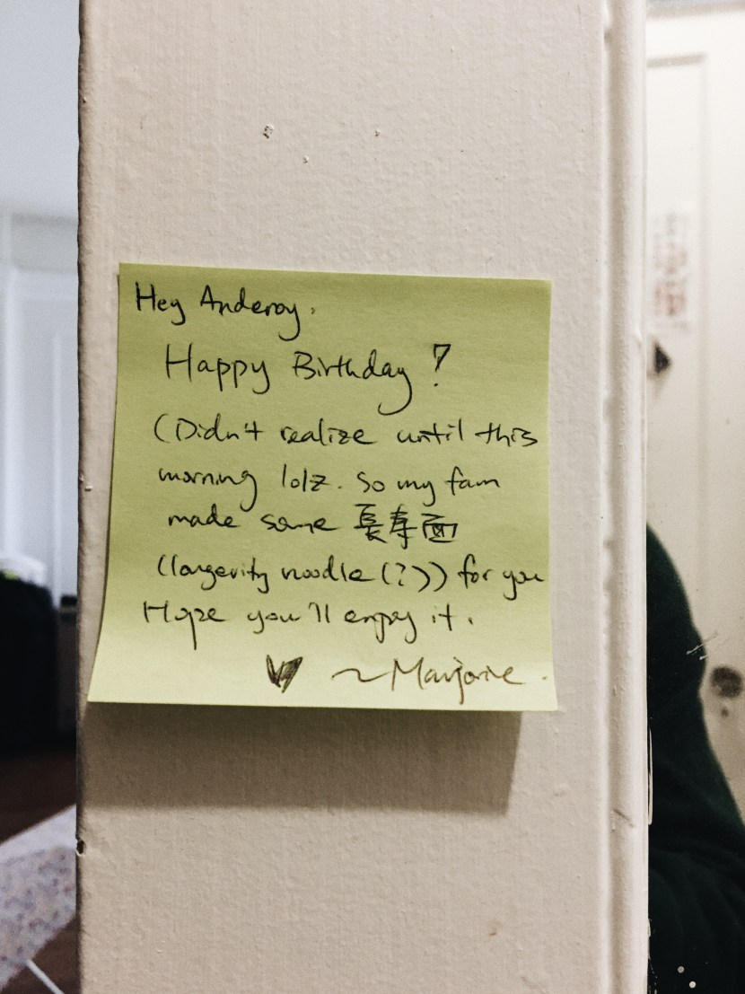 note fr roomie - birthday | brunch at audrey's
