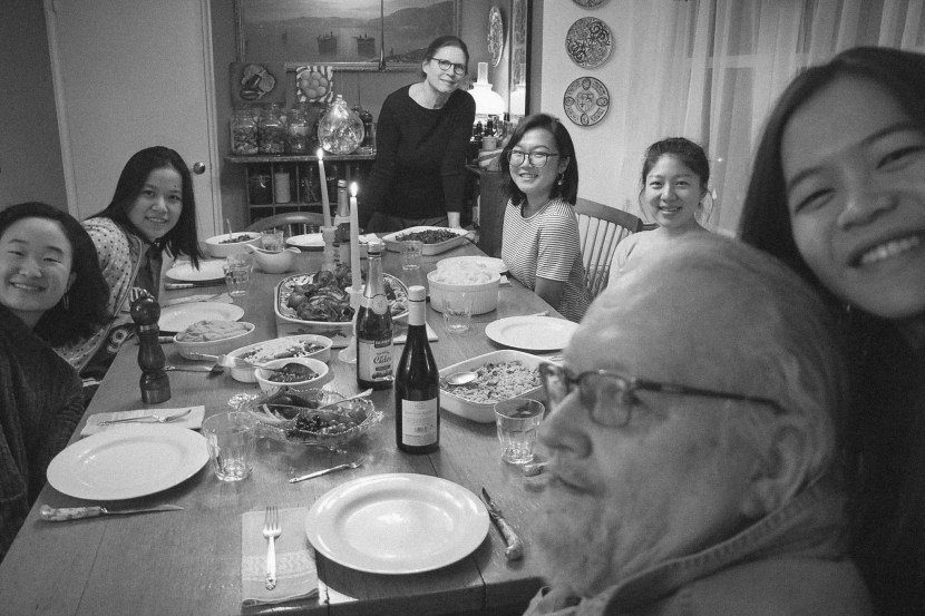 friends at thanksgiving dinner - november lately | brunch at audrey's