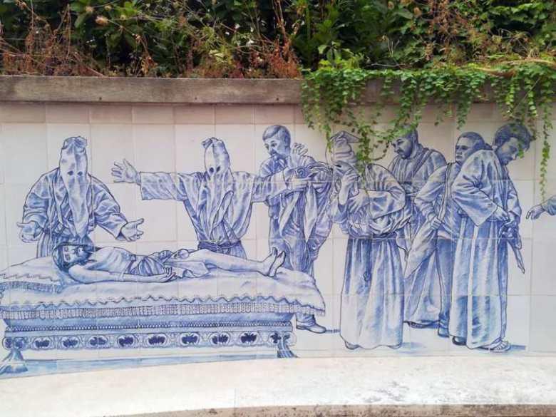 Il pannello ceramico a Minori (Salerno)