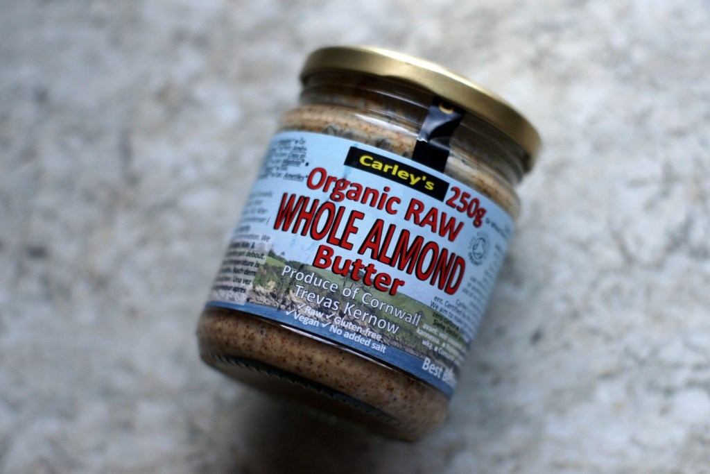 Jar oforganic whole almond butter