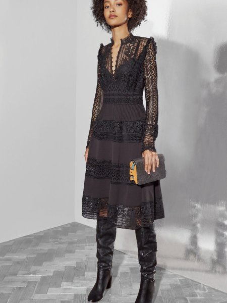 Brunette on Demand New Year's Eve Outfit Ideas Lace
