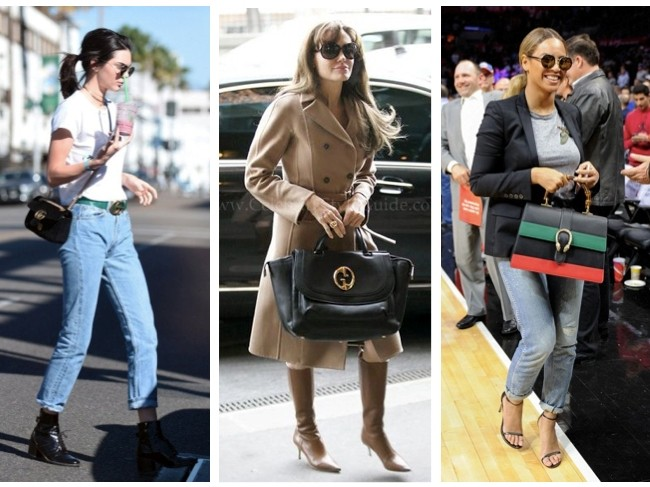 Celebrities wearing Gucci bags