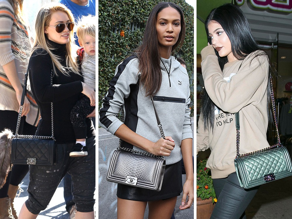 Celebrities wearing Chanel Boy Bag