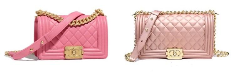 Chanel Pink Boy Bag and Chanel Look Alike Bags