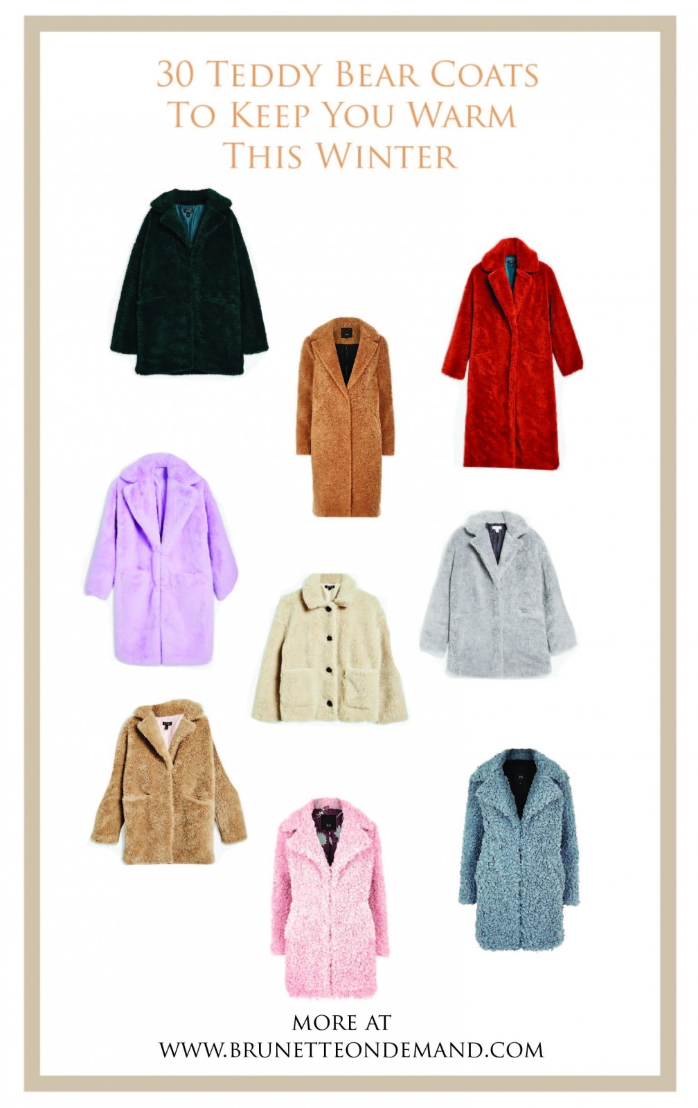30 Teddy Bear Coats To Keep You Warm This Winter - Brondema