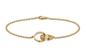 yellow-gold-love-chain-bracelet - Cartier Dupes