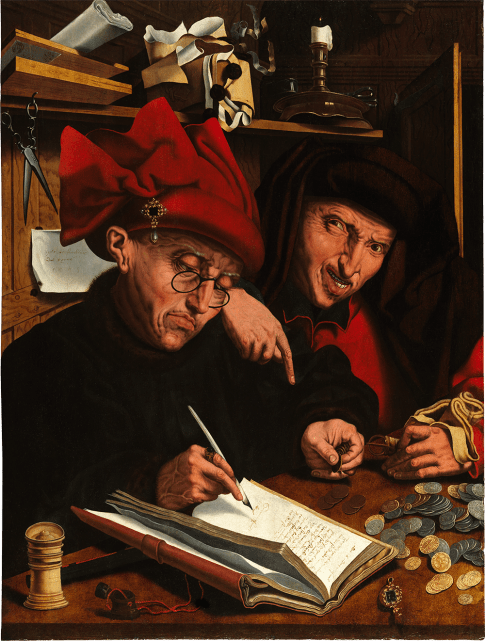 Marinus van Reymerswaele | The Tax-Gatherers | Southern Netherlands, Reimerswaal or possibly Antwerp | 1553 | oil on panel