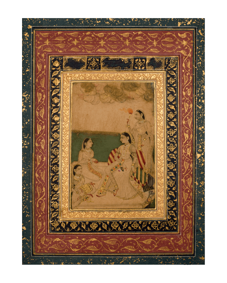 A Portrait of a Noblewoman with Attendants Deccan, probably Golconda c. 1700