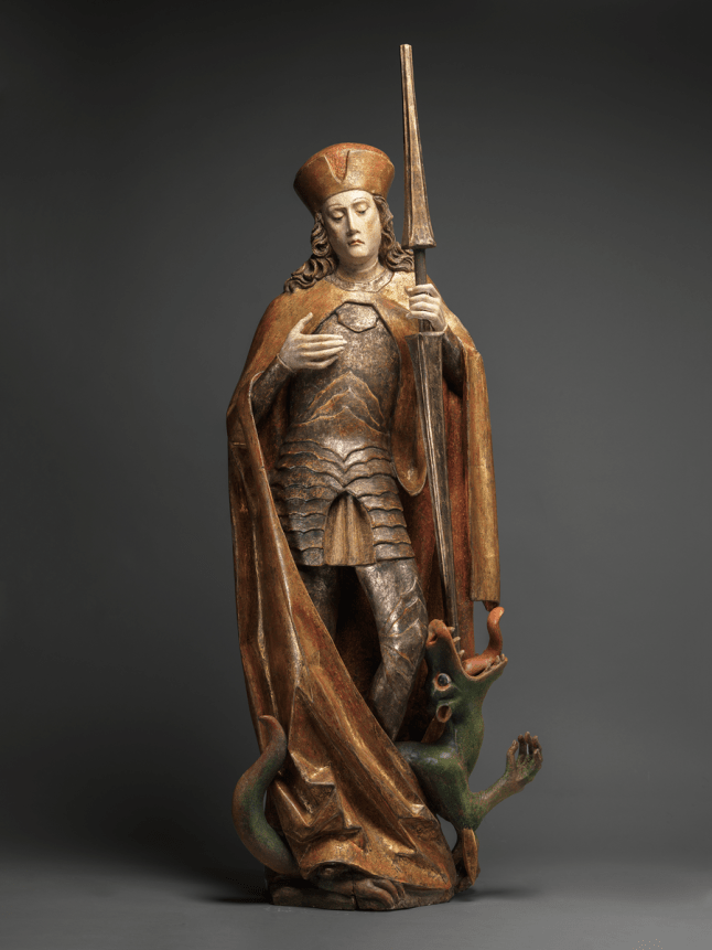 18585 Saint George and the Dragon Austria, Tyrol or Upper Austria c. 1480