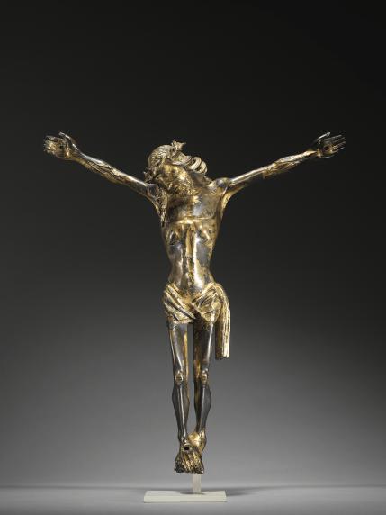 A massive gilt-bronze corpus | Southern Netherlands | c. 1450 | gilt copper-alloy