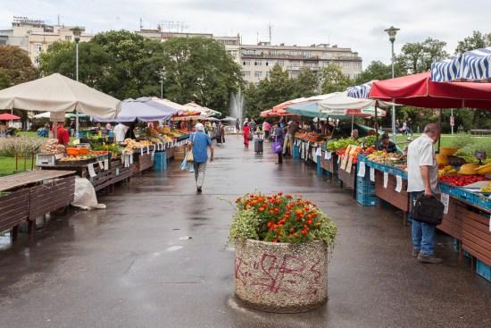Dočasné zelné trhy na Moravském náměstí