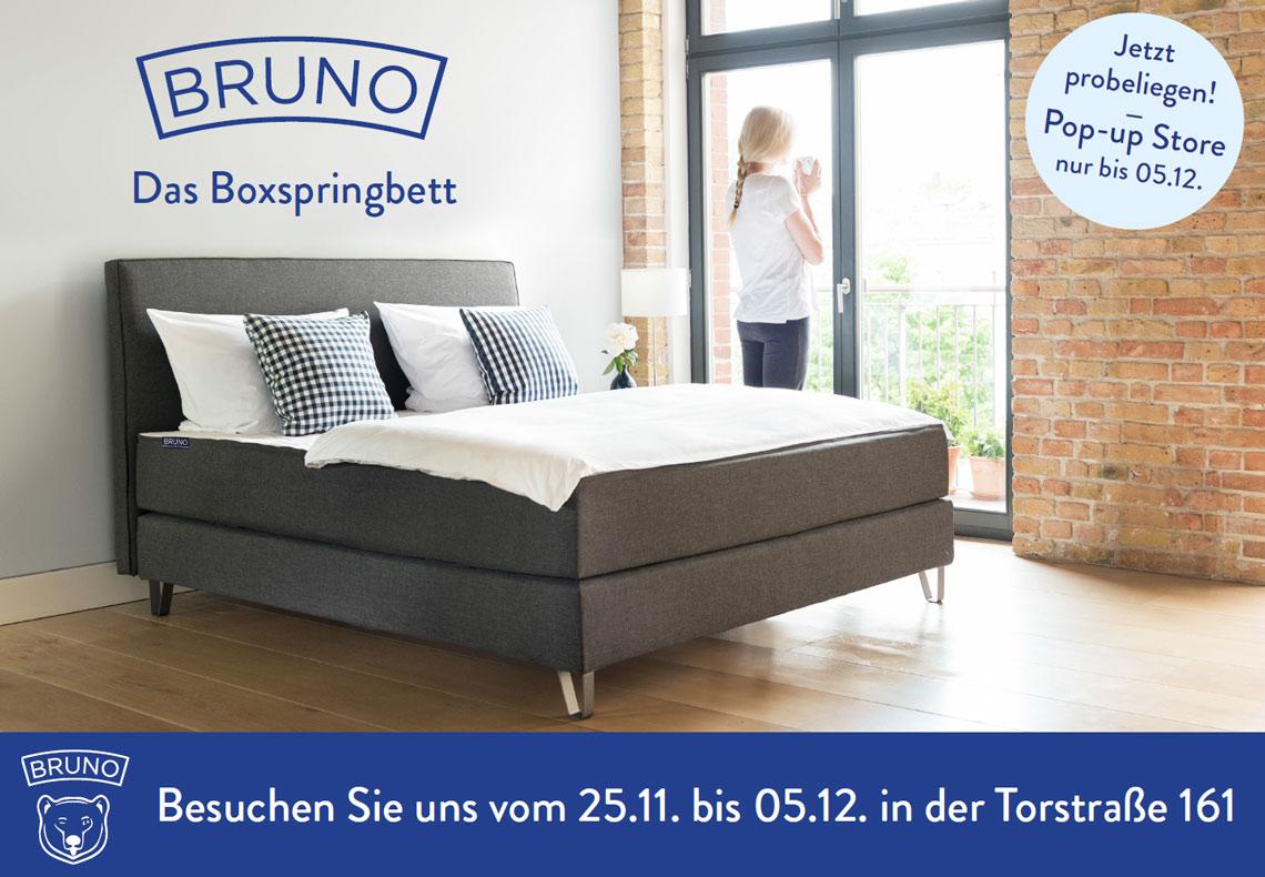 Bruno Pop-Up Store In Berlin-Mitte| Brunobett.De