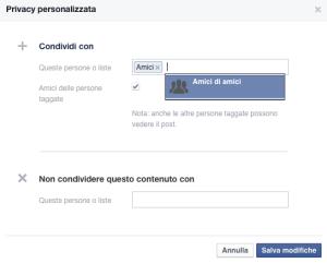 Nascondere i messaggi di Facebook