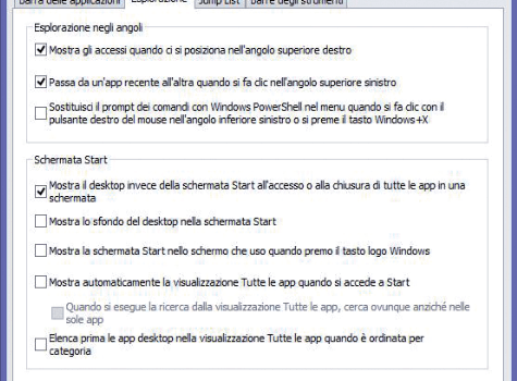 Windows 8.1 senza Tile