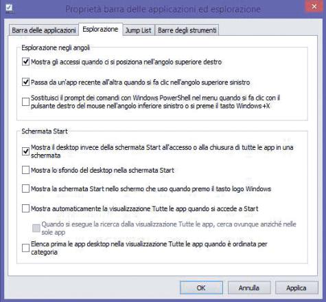 Windows 8.1 senza Tile