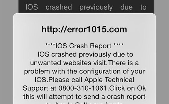 Truffa iphone e ipad crash