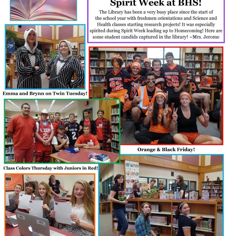 BHS Library Newsletter October 2015
