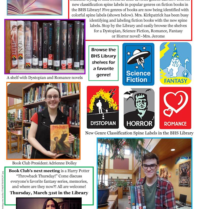 BHS Library for March 2016 Newsletter