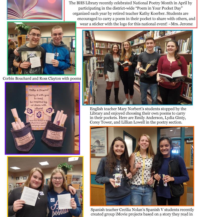 BHS Library item May 2016 Newsletter