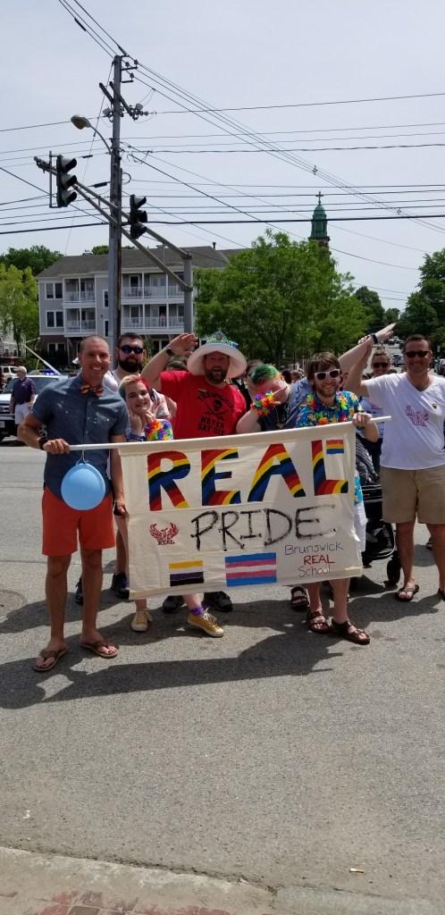 Marching in Portland Pride Parade