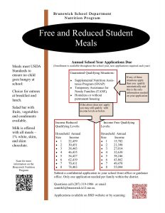 Free and Reduced Lunch 2018 Flyer