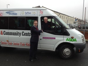 Keith Lloyd of Brunswick Youth and Community Centre with Kevin Donoghue of Donoghue Solicitors.