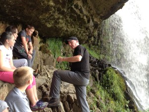 Outdoor education trip to Ingleton Waterfalls, North Yorkshire.