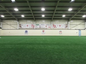 The 3G pitch at Brunswick Youth and Community Centre where Jamie Carragher Soccer Schools play.