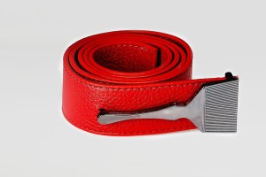 Leather Belt In Red
