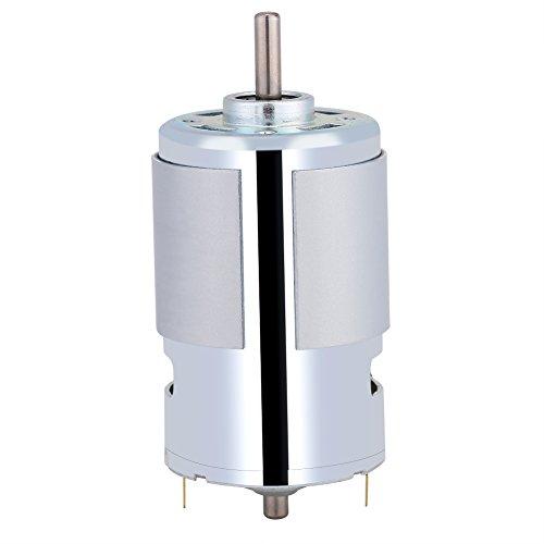 Micro 12V DC Motor,Acogedor 12V 100W Round Shaft Mini Electric Motor