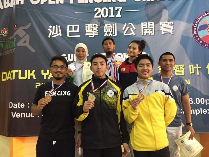 Good outing for Brunei fencers at Sabah Open