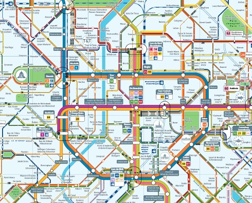 Metro map - Brussels Guide