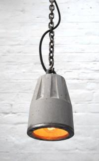 Concrete pendant lamp   Made in London   Brutal Design