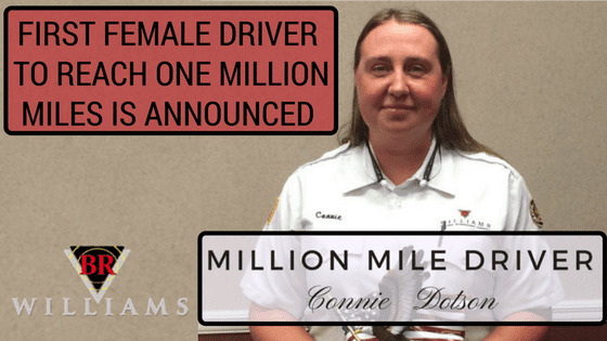 First Female Driver at BR Williams to Reach One Million Miles is Announced
