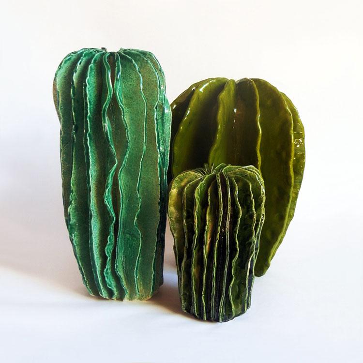 Lina Cofns Ceramic Plants  Brown Paper Bag