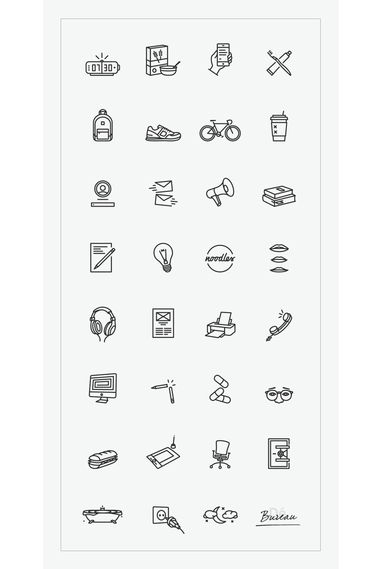 Denis Lelic's Daily Routine in Pictograms • Brown Paper Bag