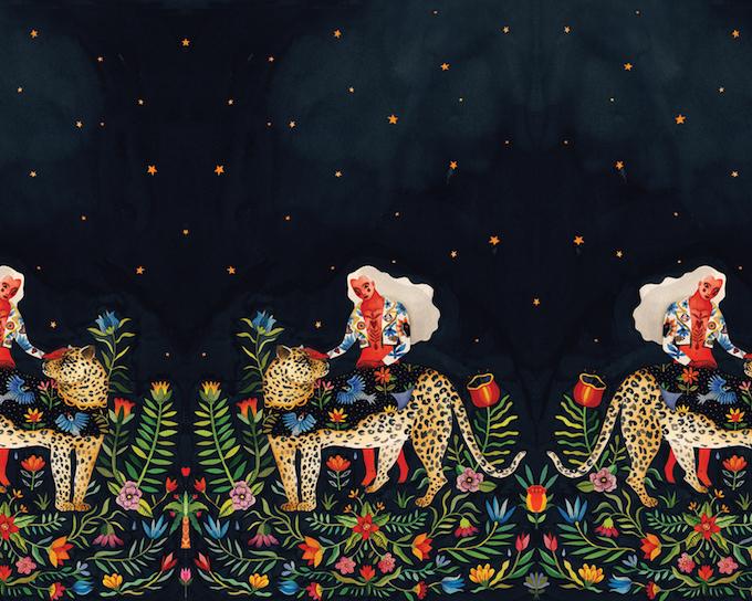 Aitchs FolkInspired Illustrations Grace Elegant Fashions