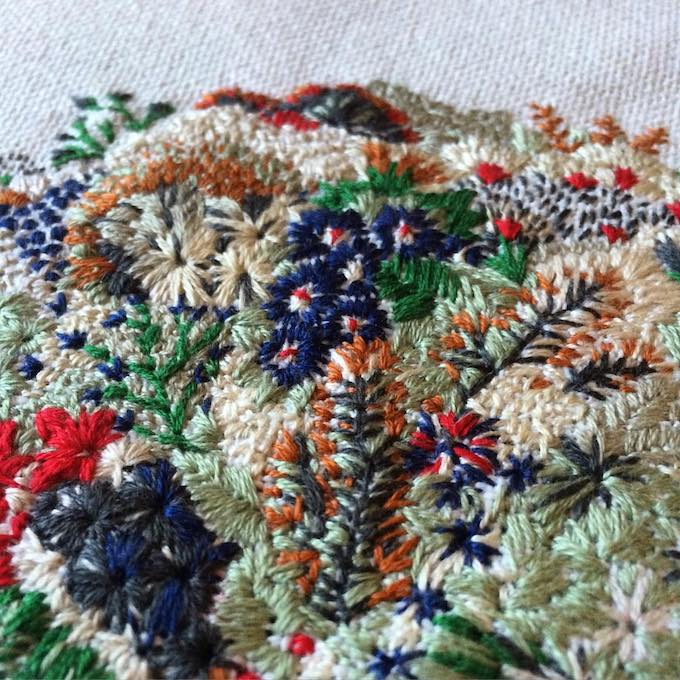 Slow Stitch Sophies Embroideries Resembling Landscapes of