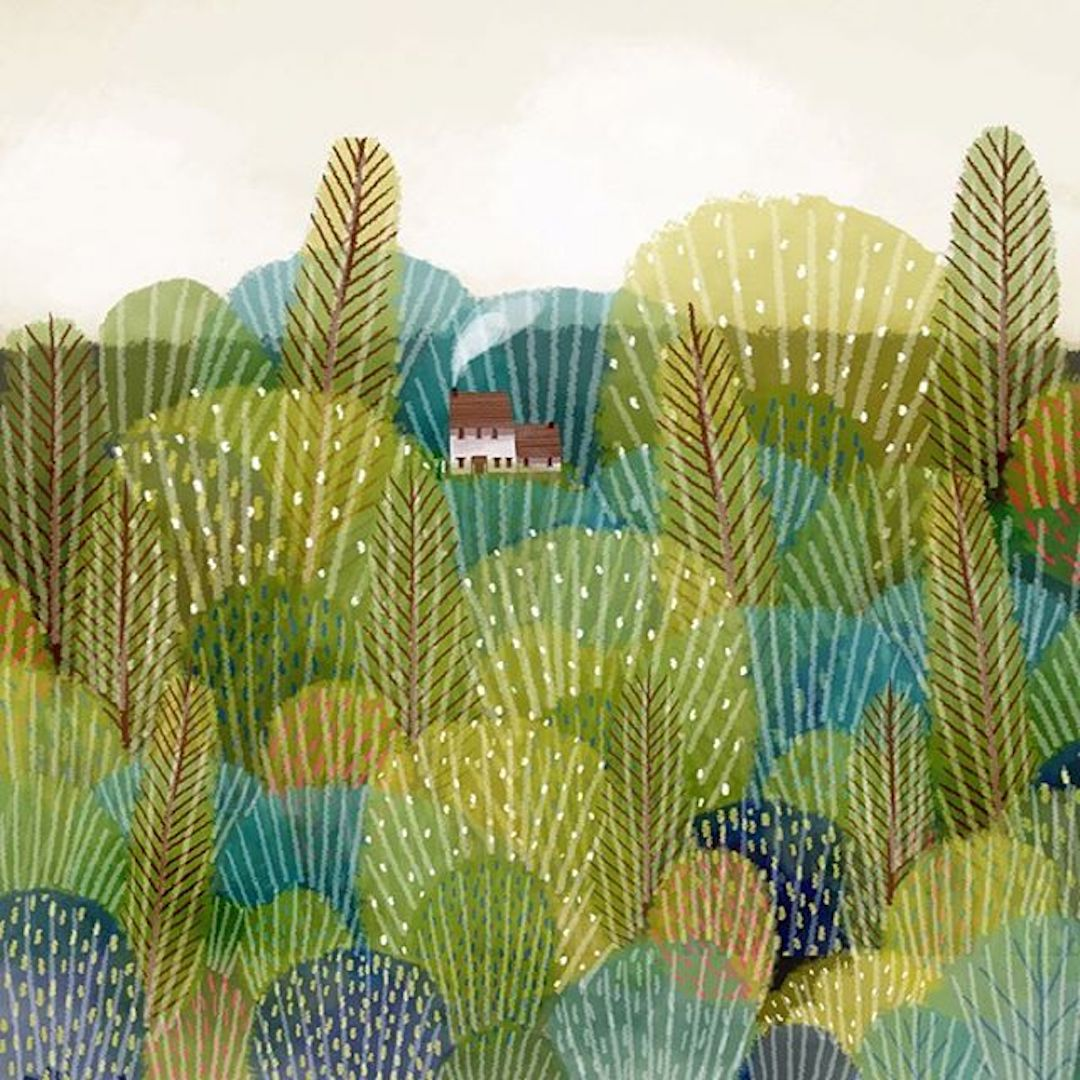 Landscape Illustrations Thatll Make You Say I Want to