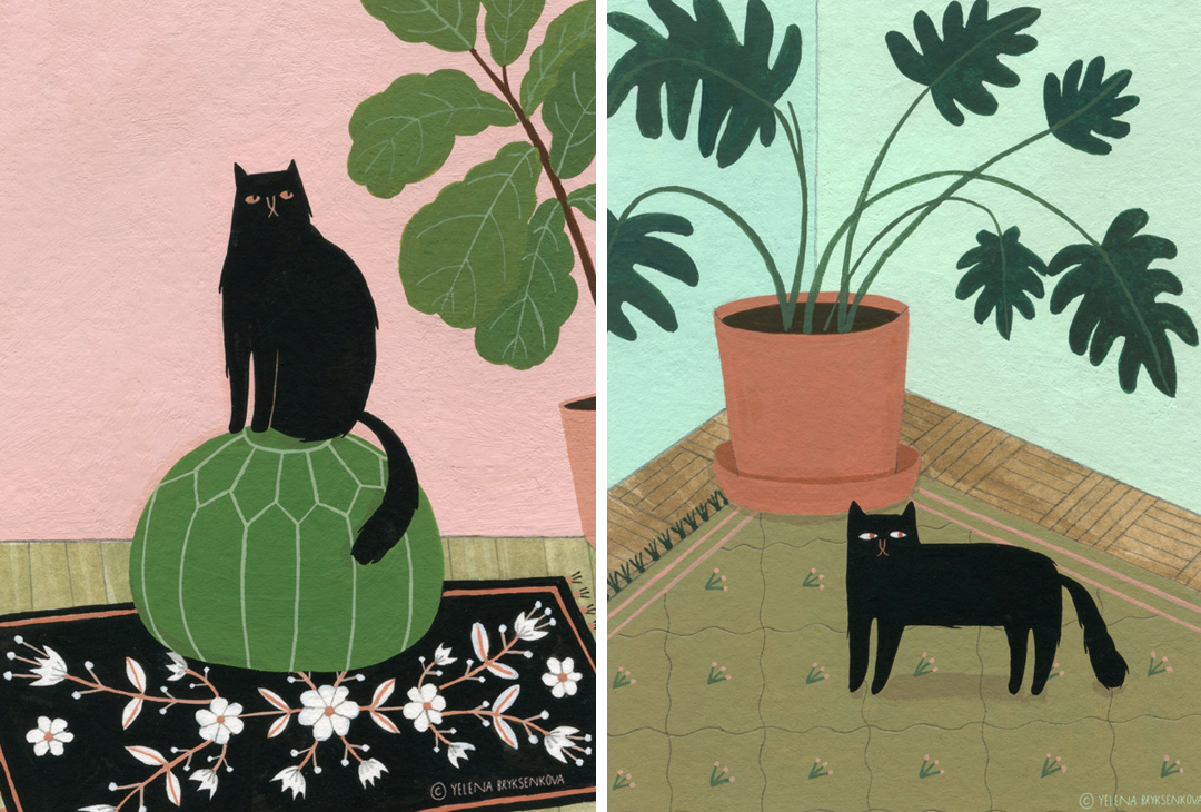 Celebrate Caturday with 15 Cat Illustrations of Fab Felines