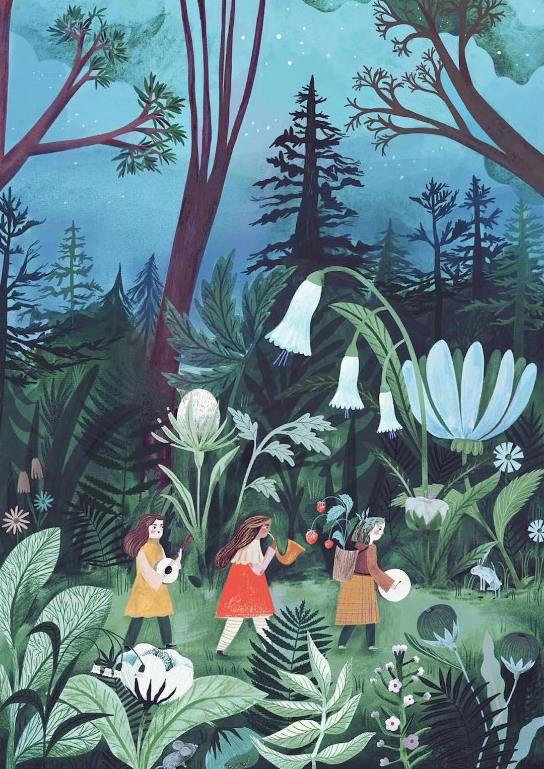 narrative illustration by adelina