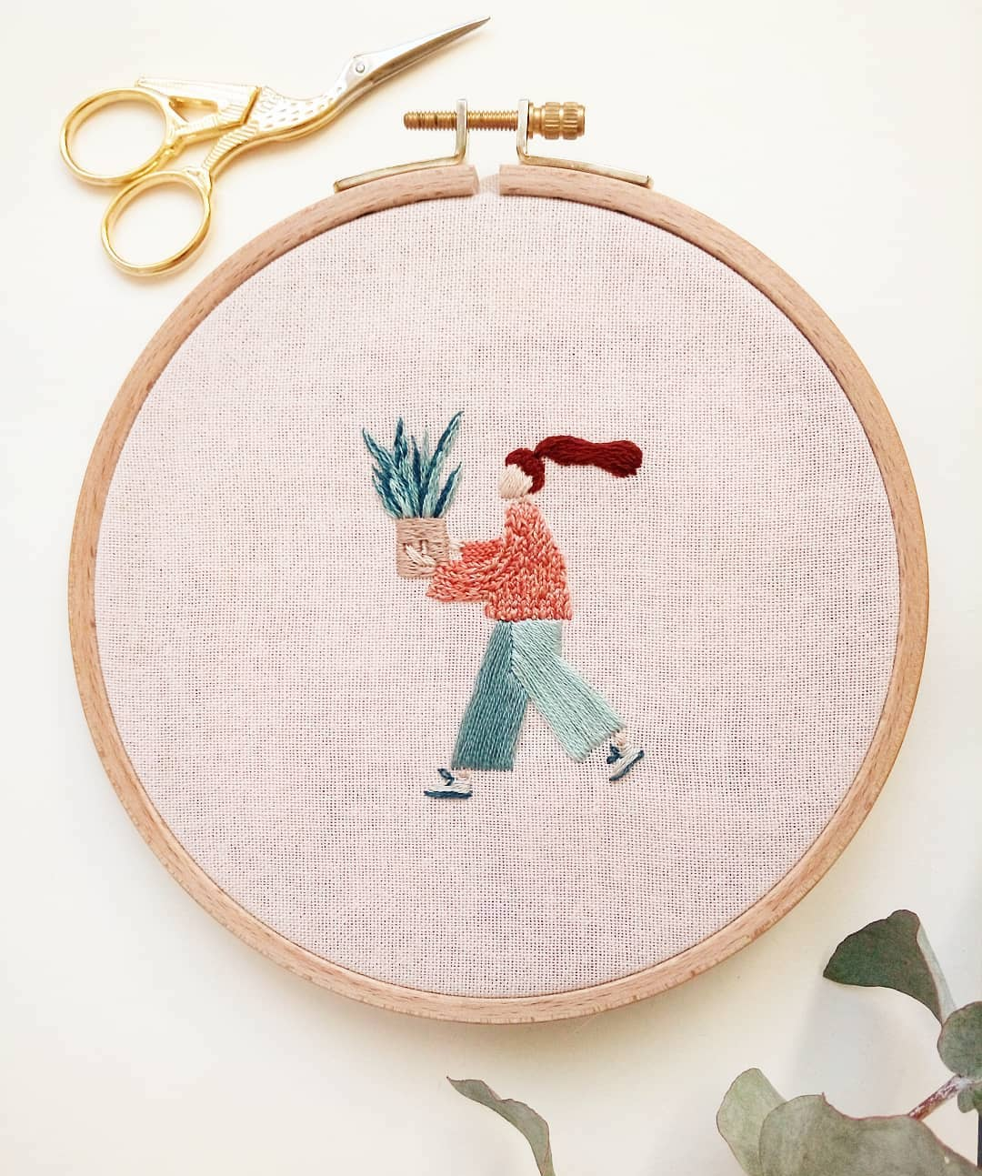 hand embroideries depict proud