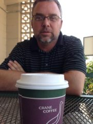 With Wally at coffee.